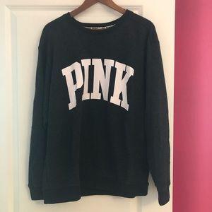 PINK Victoria's Secret Sweatshirt Large Gray